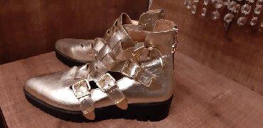 Новые ботиночки от Chanel. Чистая кожа. Золотистого цвета. Куплены в