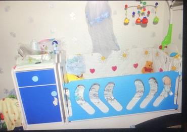 столик прикроватный в Азербайджан: Кроватка детская с пеленальным столиком