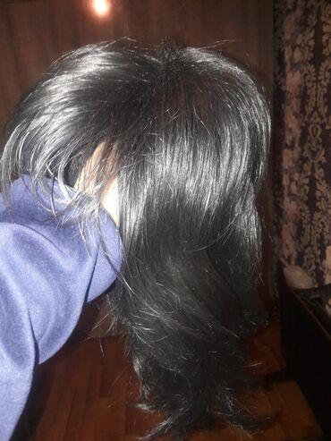 Пик групп ош - Кыргызстан: Жасалма чач сатылат термо парик тусу кара бир эле жолу кийилген ынгайл