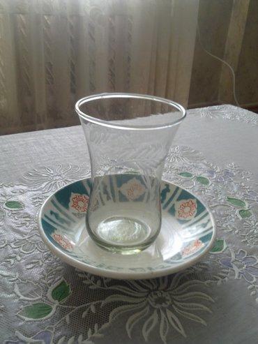 Bakı şəhərində Armudı stəkan (12 əd naxışlı armudı stəkanları (hündürlüyü 10 sm)- şəkil 3