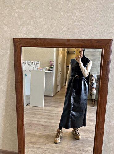 Продаю кожаный сарафан(новый) пошив Размер 42-44