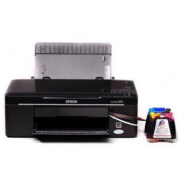 Принтеры в Бишкек: Цветной принтер Epson SX130 с СНПЧ / Доноркой полностью