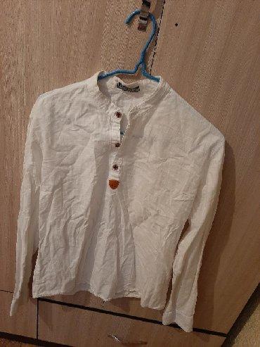 Мужские рубашки в Кыргызстан: Рубашка лен мужской как новый размер 44 46