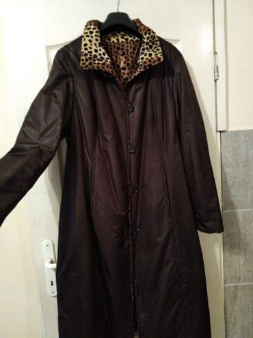 Nov zenski mantil jakna 42 vel, za starije dame, sa dva lica je blago - Nis