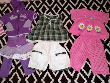 Детская одежда и обувь в Кыргызстан: Продам комплекты б/у на малышку с 3-6 мес и 6-9 мес. Любой комплект