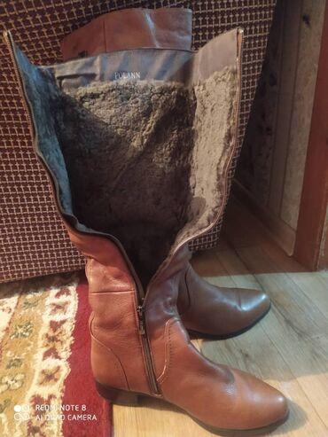 Продаю чисто кожаные зимние сапоги, не подошёл размер, совершенно