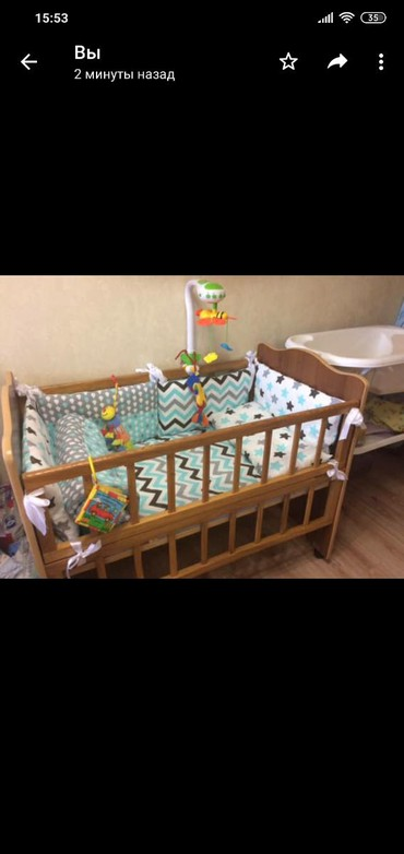 Продается деревянная кроватка в хорошем состоянии, цена 2000 сом