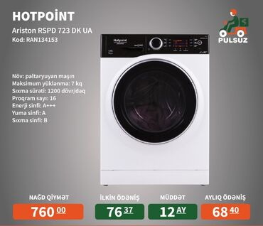 Öndən Avtomat Washing Machine 7 kq