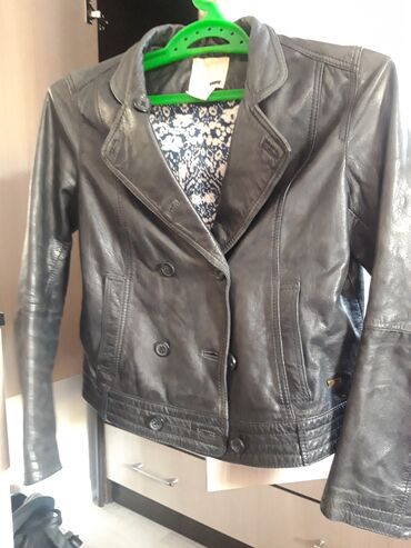 куртка касуха в Кыргызстан: Кожаная куртка бомбер, носила аккуратно
