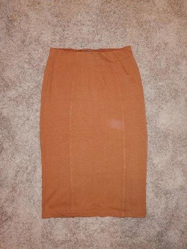Din suknja - Srbija: Braon suknja, cena 1.000,00 din, velicina mPrelepo stoji, uska suknja