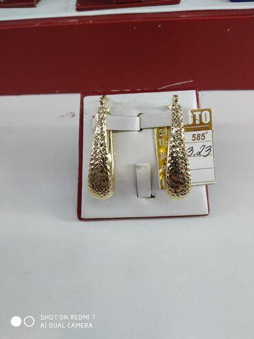 Серьги жёлтое золото 585 пробы, НОВЫЕ цена 11950