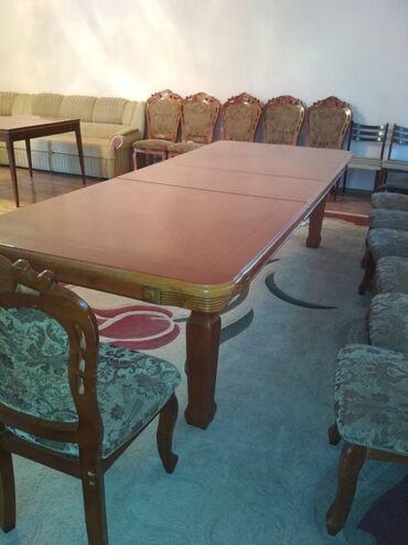 Комплекты столов и стульев - Кыргызстан: Продаю стол для гостиной.Раздвижной 350*110 и 300*11012