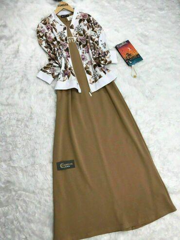 Платья в Токмак: Двойка *Платье*  Размер:38/46 Цена:2200 сом_руб
