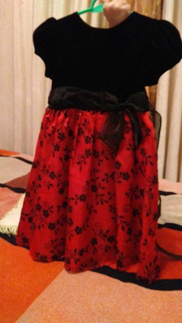 Платье на 5-7лет,привезено из США,верх веллюровое,низ парча,двойная юб в Бишкек