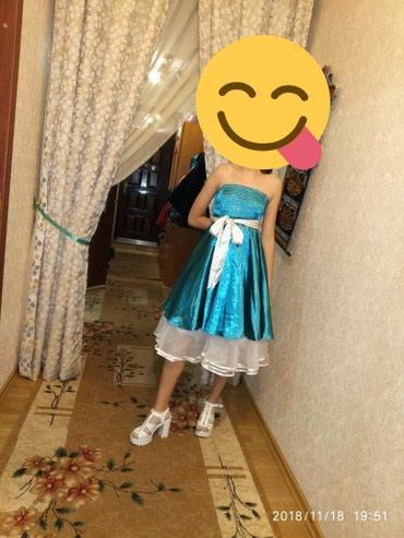 Атласное платье на выход. шили на в Бишкек