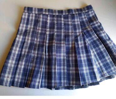 Клетчатая юбка в корейском стиле, одевала только 1раз
