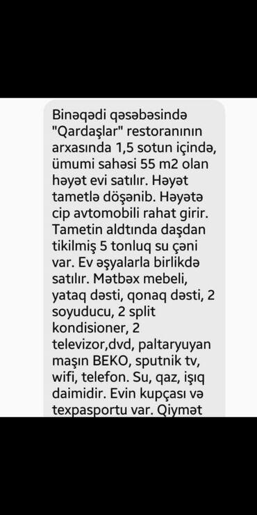 berde rayonunda kiraye evler - Azərbaycan: Ev satılır 43 kv. m, 3 otaqlı