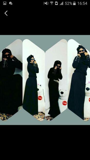 зимние платья в Кыргызстан: Мусульманские осеннее зимнее платье на 40 размер новый, заказывали с