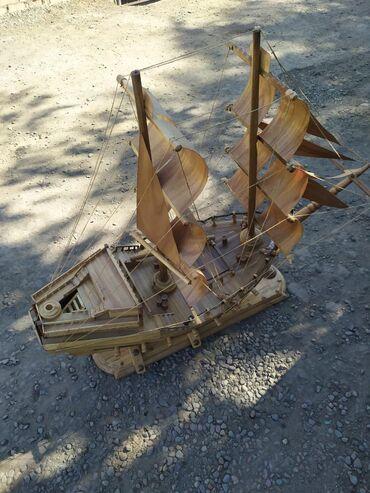 Модели кораблей - Бишкек: Корабль ручная работа высота 1 м