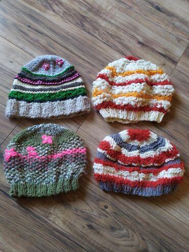 Pleteni prslici - Srbija: 4 vunene, pletene kape za 500din