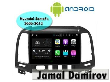 Bakı şəhərində Hyundai SantaFe 2006-2012 üçün Android DVD-monitor.
