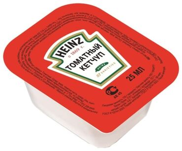Кетчуп astoria «томатный», дип-пот, 25 г (125 шт), рфсостав:вода