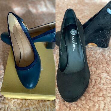Продаю туфли .чёрные 10см синие 6 см листайте там фото покупайте