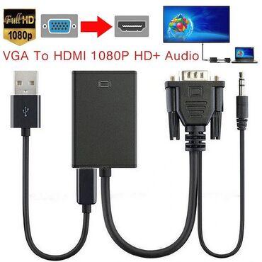 переходник с dvi на hdmi в Кыргызстан: Переходник VGA to HDMI со звуком и питанием