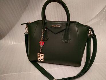 Женская сумка Givenchy цветом хаки, в идеальном состоянии