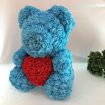 Мишки из роз  Отличный подарок для родных и близких