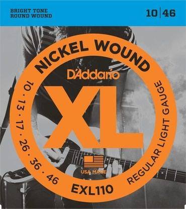 D'Addario elektro gitara uchun 1 dest sim Model: EXL 110