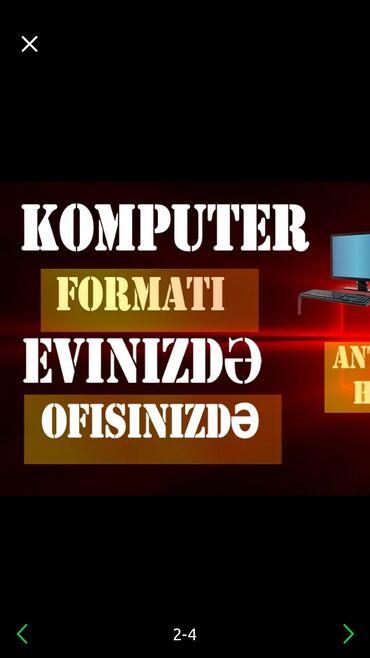 IT, internet, telekom Azərbaycanda: Komputer formati  #Çağırışla ofise və evlərə gəlirik  #Diaqnostika pul