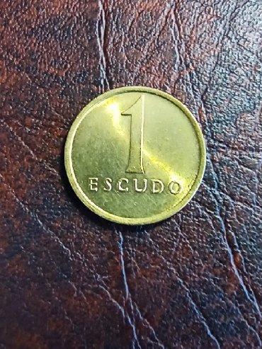Kovanica 1 escudo Portugal
