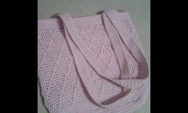Italijanska svetlo roze,unikatna,vezena torba od svilenog - Belgrade