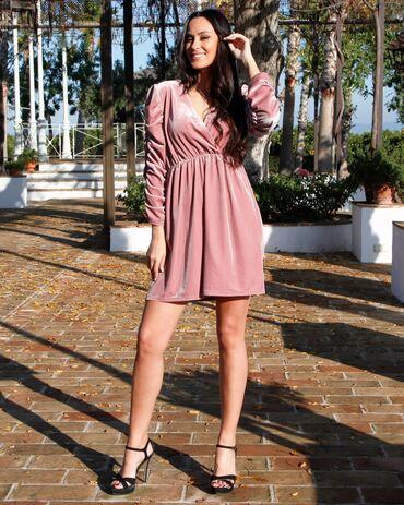 Личные вещи - Кировское: Лёгкое розовое платье,как раз на лето.Размер М,одевала один раз
