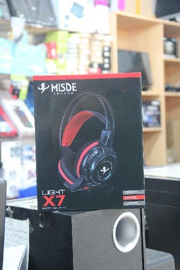Model: Misde X7 Gaming HeadsetQoşulma: USB/3.5mm jack (işıqlı)Mağazada