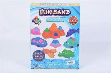 🥰Kineticki pesak 🥰  Set sadrzi 454g kinetickog peska u boji, modlice