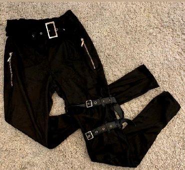 Extra pantalone velur elastin predivne unikatne nove Vel S M - Batajnica