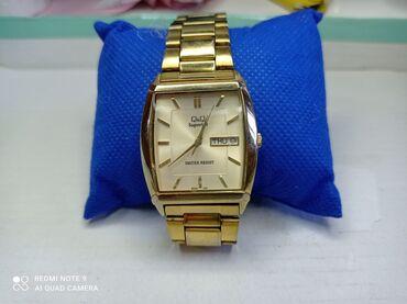Золотистые Мужские Наручные часы Q&Q