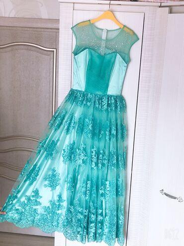 бирюзовое вечернее платье в Кыргызстан: Вечернее платье в пол. Бирюзового цвета. 40-42 размер