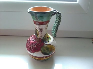 Prelepa keramička vaza sa cvetnim motivom krasiće svaki prostor, - Pozarevac