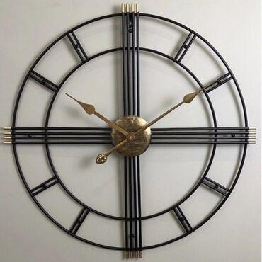 pulsuz - Azərbaycan: Dekorativ divar saatalrı. Ölçü: 60 sm. Material: metal