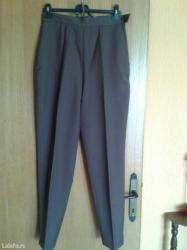 Braon pantalone,napred postavljene do kolena,nove,rajsferslus na kuku, - Valjevo
