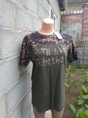 Футболки - Кыргызстан: Продаю мужскую футболку. 100% хлопок. Новая. Размер 52. Производство