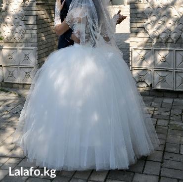 Шикарное свадебное платье. в Бишкек