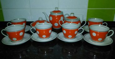 новый чайный сервиз СССР, полный комплект на 6 персон на фото -  в Лебединовка