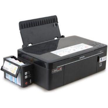 Принтеры в Бишкек: Цветной принтер / МФУ 3в1 Epson L200 с заводским СНПЧ /