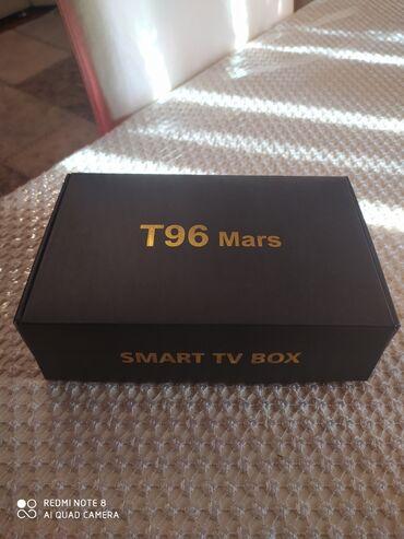 Tv Box,T96 Mars, cox az istifade olunub.Yenidir.Tv tuner le deiwerem