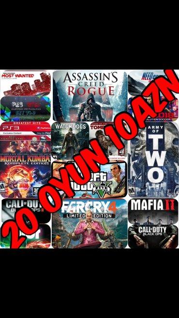 Bakı şəhərində Playstation ucun en yeni esas oyunlarin yazilmasi... 20 oyun cemi 10az