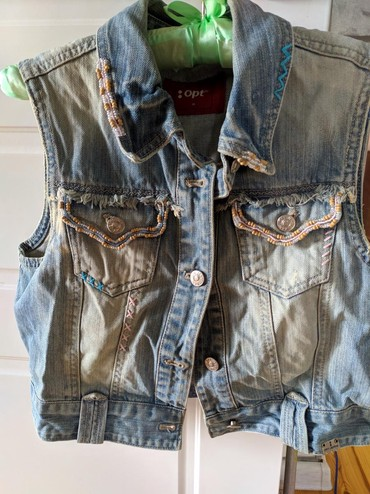 детская джинсовая куртка в Кыргызстан: Продаю джинсовую безрукавку